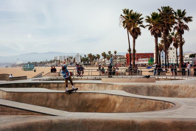 Wenecja łyżwy park w Wenecja plaży, Los Angeles, Kalifornia obrazy stock