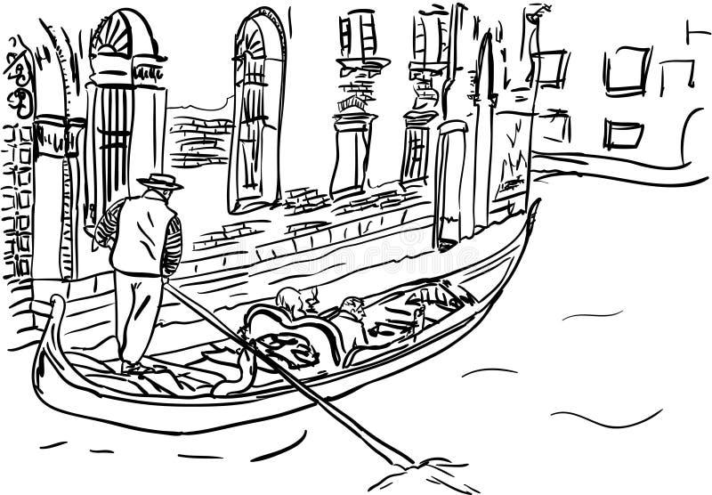 Wenecja royalty ilustracja