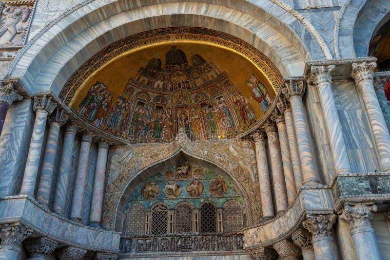 Wenecja, bazylika San Marco, mozaika zdjęcie stock