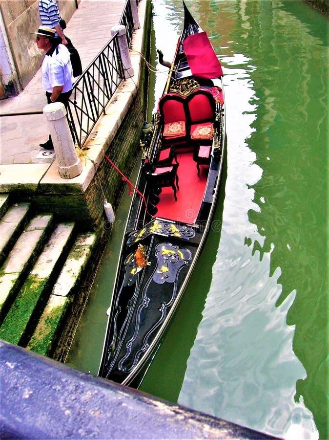 Wenecja, gondola, gondolier i atrakcje turystyczne we Włoszech zdjęcia royalty free