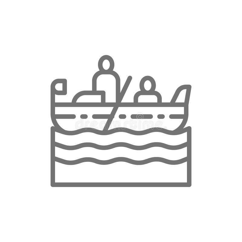 Wenecja gondola, gondolier kreskowa ikona ilustracja wektor