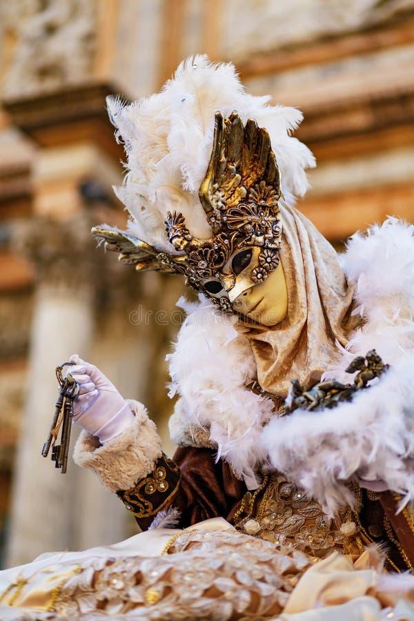 Wenecja karnawał - klucze pomyślność fotografia stock