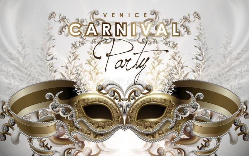 Wenecja karnawału plakat royalty ilustracja