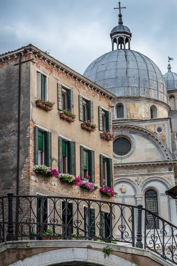 Wenecja kościół i dom obrazy royalty free