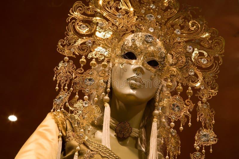 Wenecja - luksusowa dekoraci maska zdjęcia royalty free