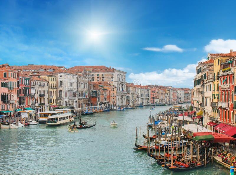 Wenecja miasto w słonecznym dniu fotografia stock