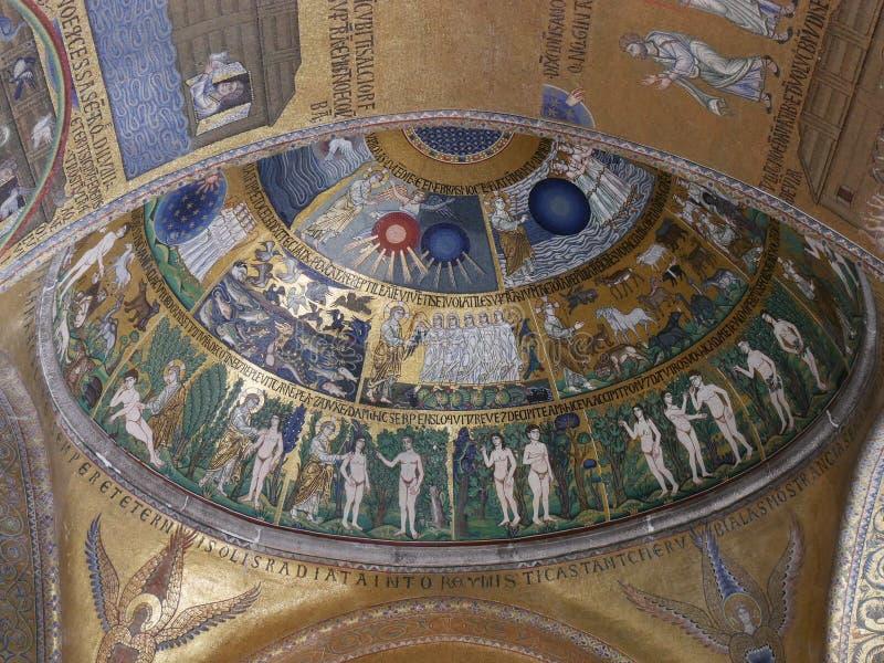 Wenecja - mozaika w San Marco kościół katedrze obraz stock