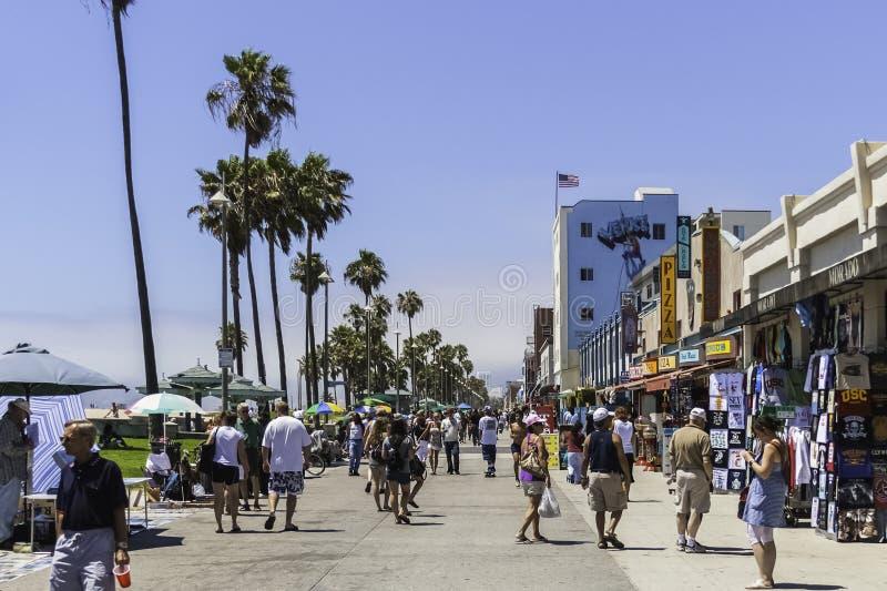 Wenecja plaży boardwalk w lecie obraz royalty free
