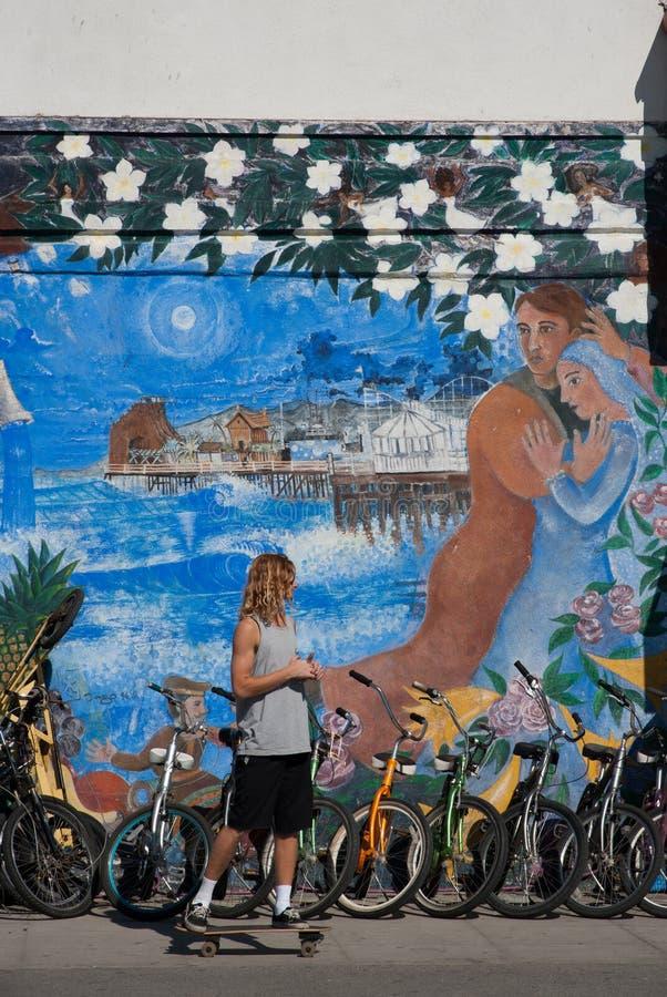 Wenecja plaży deskorolkarz zdjęcie royalty free