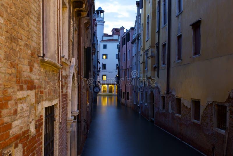 Wenecja przy nght zdjęcie stock