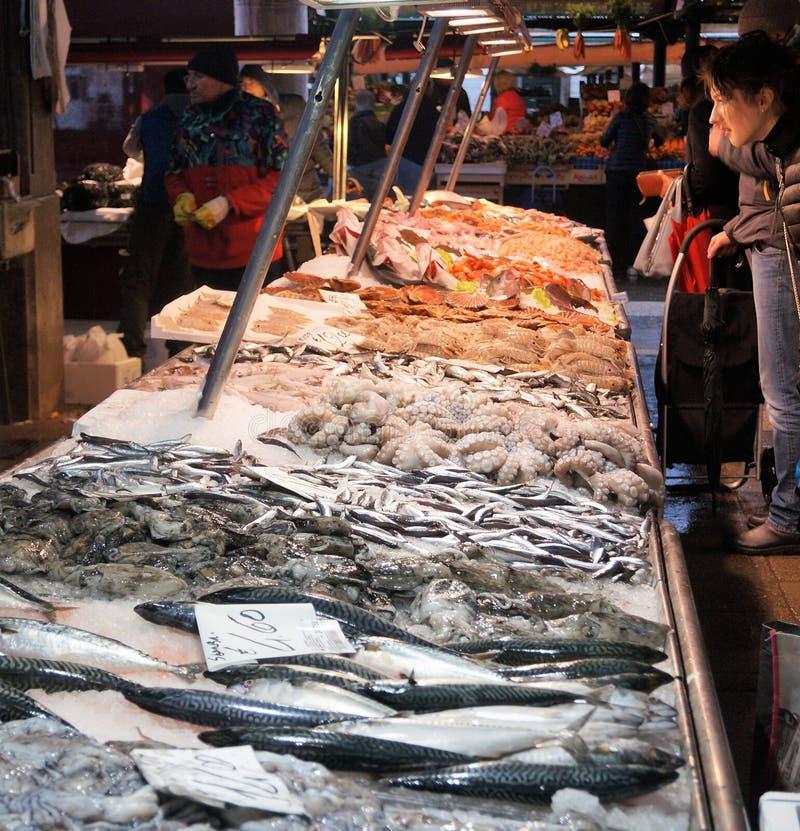 Wenecja Rybi rynek obraz stock