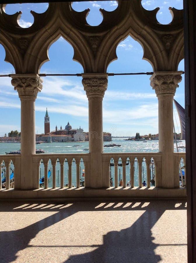 Wenecja, schronienie widok fotografia royalty free