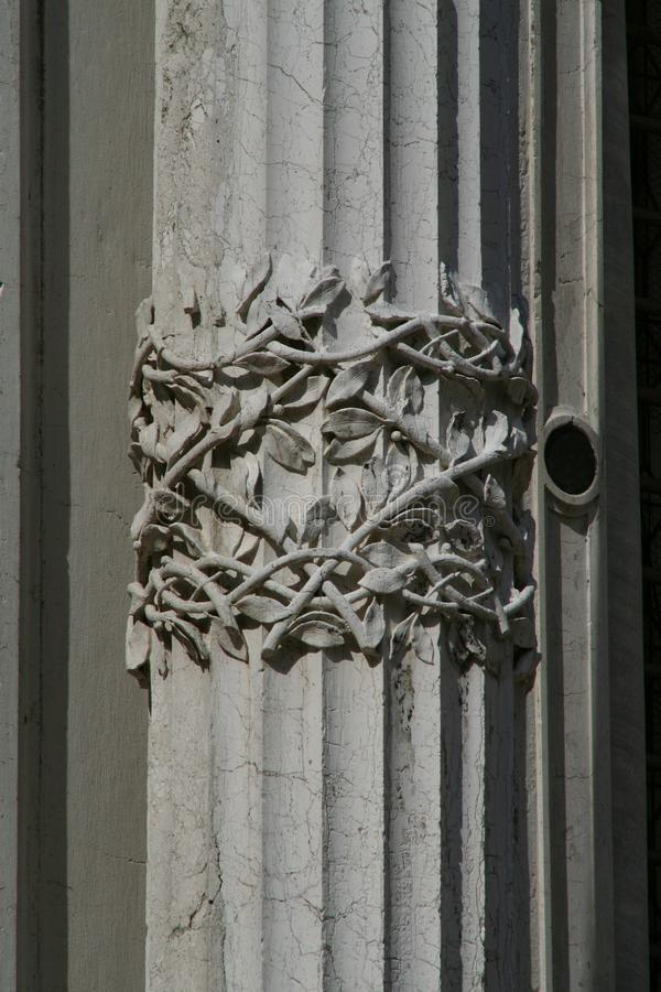 Wenecja, Scuola Grande Di San Rocco, szczegół fasada fotografia stock
