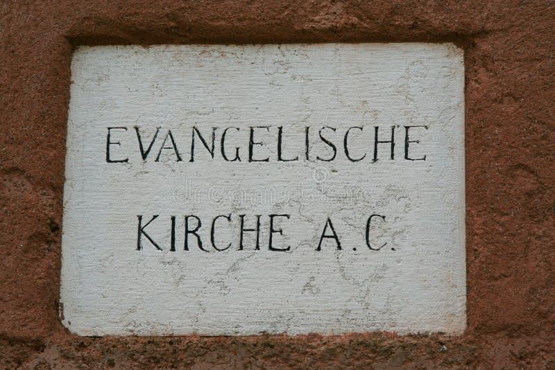 Wenecja, talerz Luterański kościół obraz royalty free