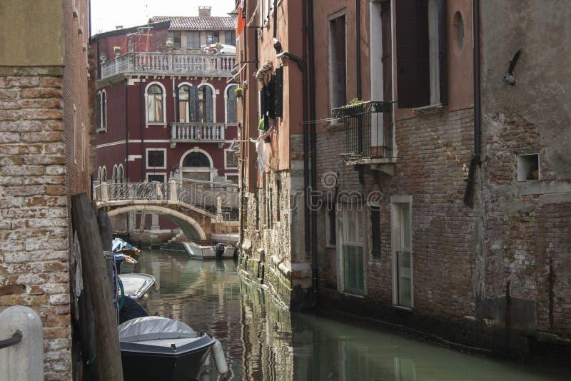 Wenecja ulica w wczesnym Wrześniu 2016 obrazy royalty free