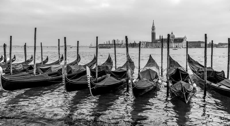 Wenecja w czarny i biały zdjęcie royalty free