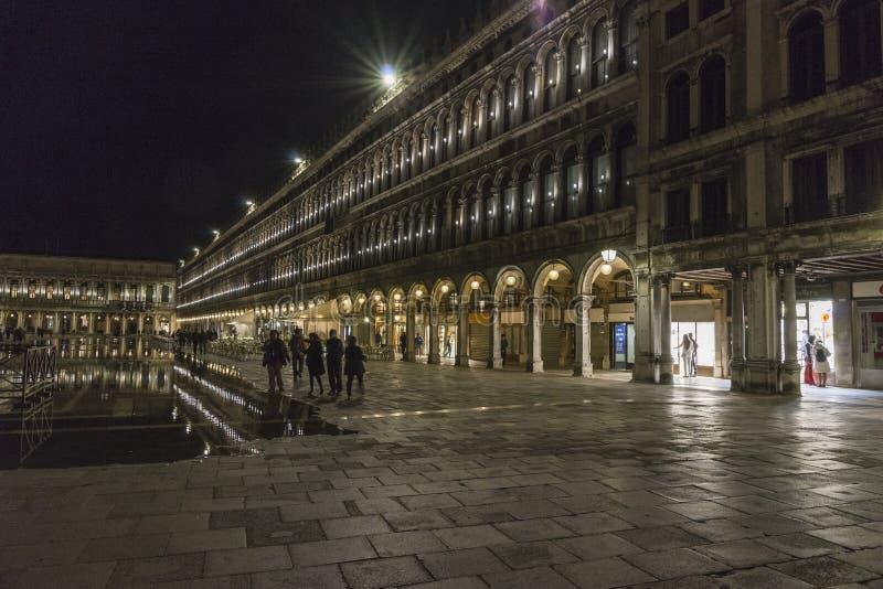 Wenecja w Włochy przy nocą zdjęcie stock