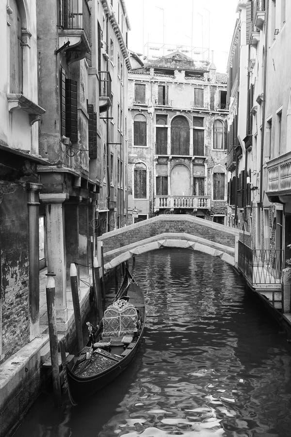 Wenecja widok w czarny i biały zdjęcia royalty free