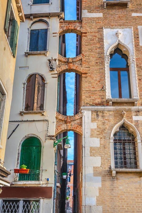 Wenecka budynek fasada zdjęcie stock