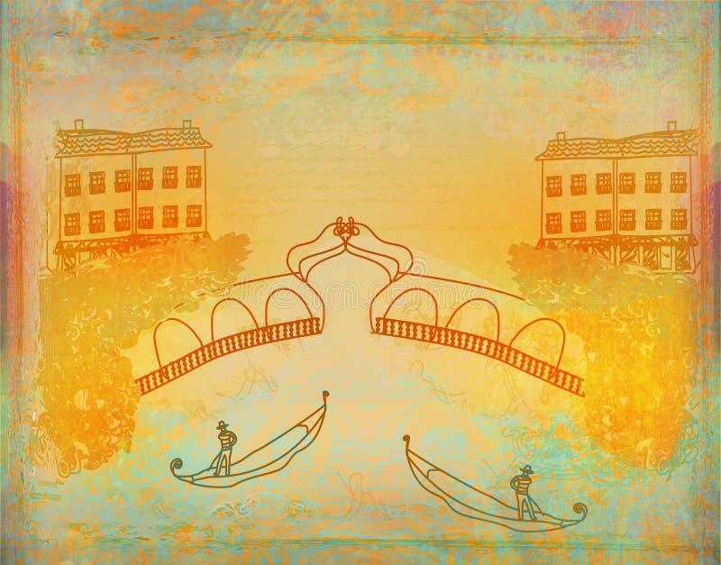 Wenecka gondola. ilustracja wektor