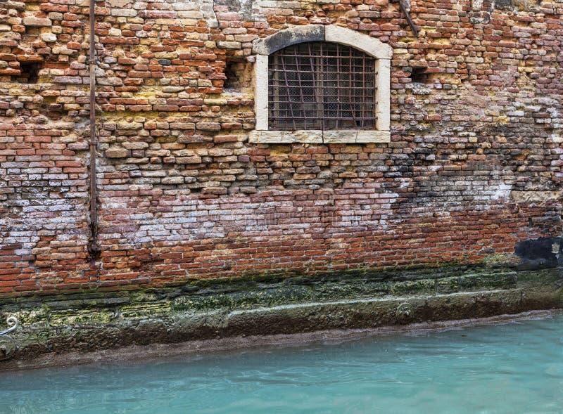 Wenecki ściana szczegół