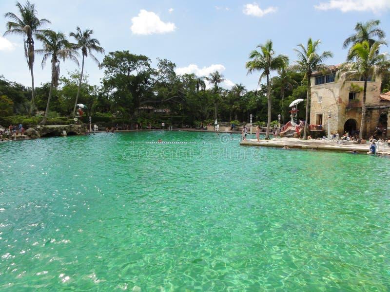 Wenecki basen Koralowi szczyty - Historyczny Floryda - obrazy royalty free