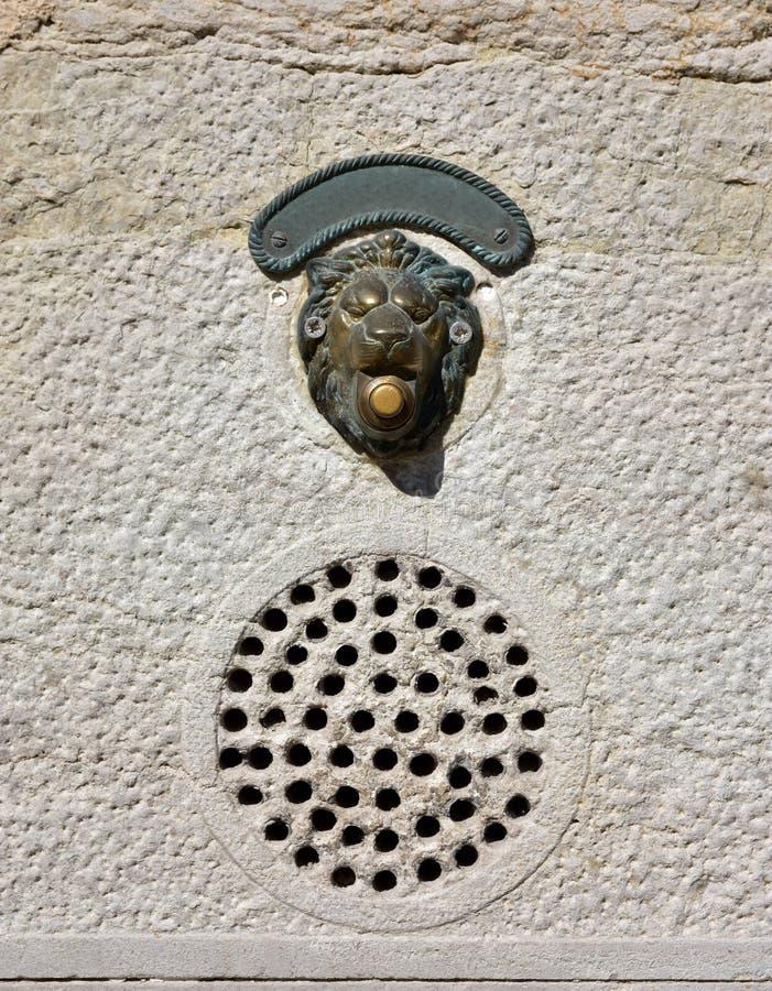 Wenecki drzwiowy dzwon zdjęcia stock
