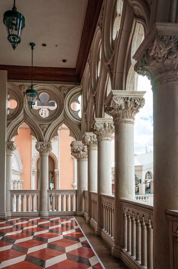 Wenecki fasadowy szczegół fotografia stock