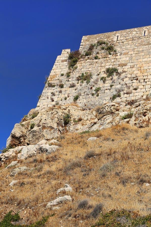 Wenecki forteczny Fortezza w Rethymno, Crete, Grecja fotografia royalty free