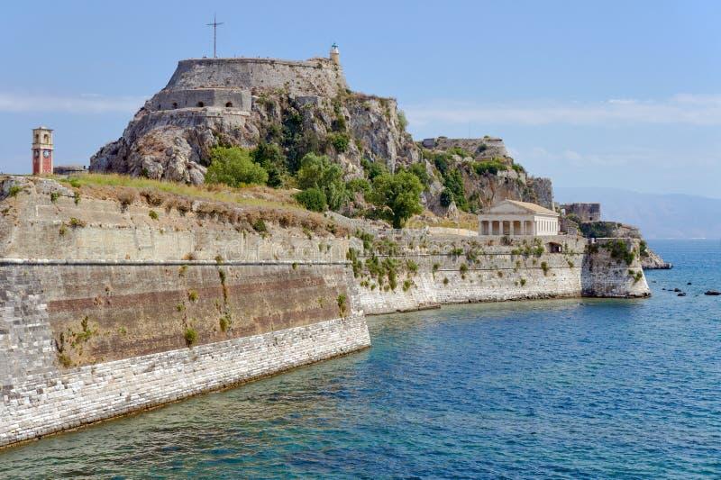 Wenecki forteczny Palaio Frourio w mieście Corfu zdjęcie royalty free
