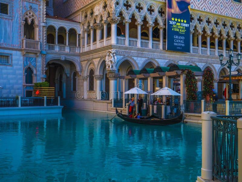 Wenecki hotel w Las Vegas, Nevada, Stany Zjednoczone Ameryki zdjęcie royalty free