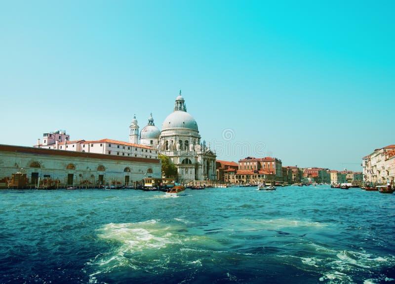 Wenecki kanał grande zdjęcia stock