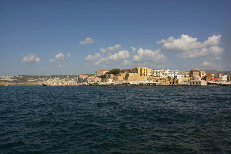 Wenecki schronienie i port Chania Stary miasteczko Crete wyspa Grecja fotografia stock