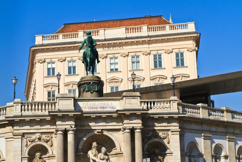 Wenen Albertina Palace royalty-vrije stock fotografie