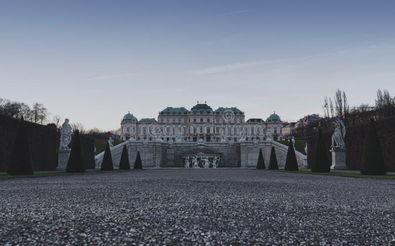 Wenen - Belvedere - Achterkanttuin stock foto