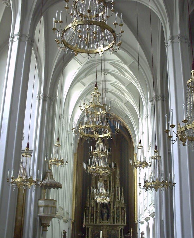 Wenen, bij de beroemde Stephansdom-Kathedraal stock afbeeldingen