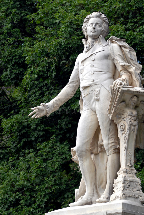 Wenen - Mozart stock afbeelding