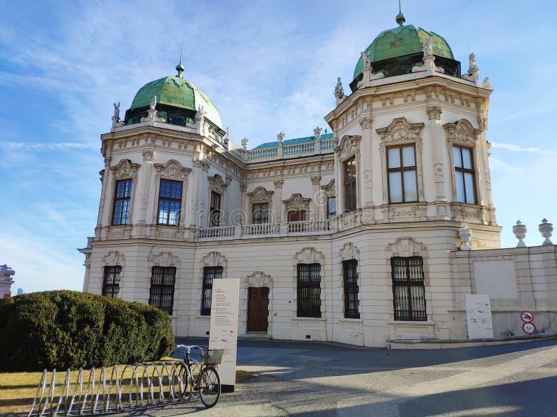 Wenen, Oostenrijk - Februari 2019: Belvedere in Wenen royalty-vrije stock afbeeldingen