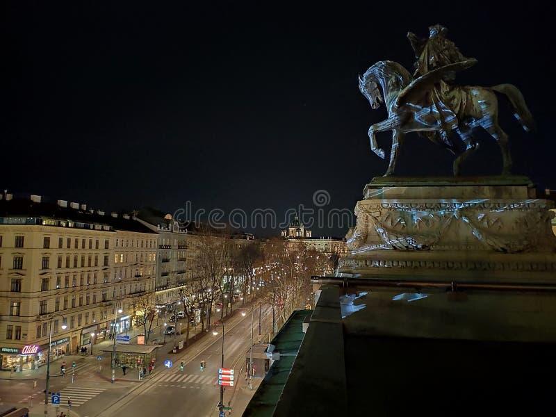 Wenen, Oostenrijk -25 Februari 2019: De operahuis van Wenen stock foto's