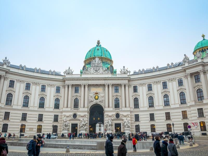 WENEN, OOSTENRIJK - FEBRUARI 17, 2018: Hofburg Keizerpaleis binnen Wenen, Oostenrijk royalty-vrije stock foto's
