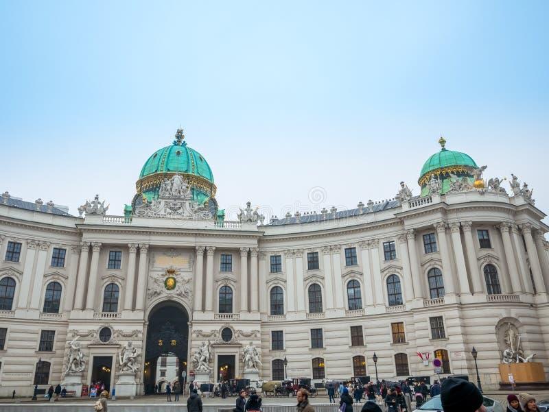 WENEN, OOSTENRIJK - FEBRUARI 17, 2018: Hofburg Keizerpaleis binnen Wenen, Oostenrijk royalty-vrije stock foto
