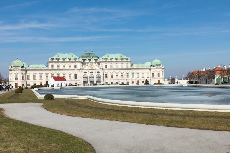 WENEN, OOSTENRIJK - MAART 10, 2018: Wenen, Oostenrijk Hogere Belvede royalty-vrije stock foto
