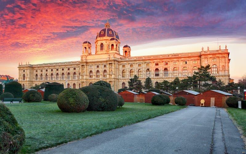 Wenen, Oostenrijk Mooie mening van beroemde Kunsthistorisches - FI royalty-vrije stock fotografie