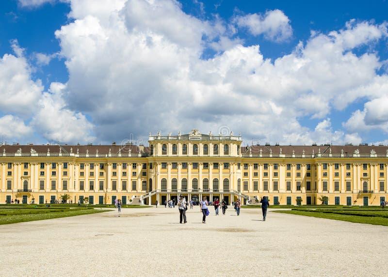Wenen, Oostenrijk - Oktober 14, 2016: De vroegere keizerzomer resid royalty-vrije stock foto