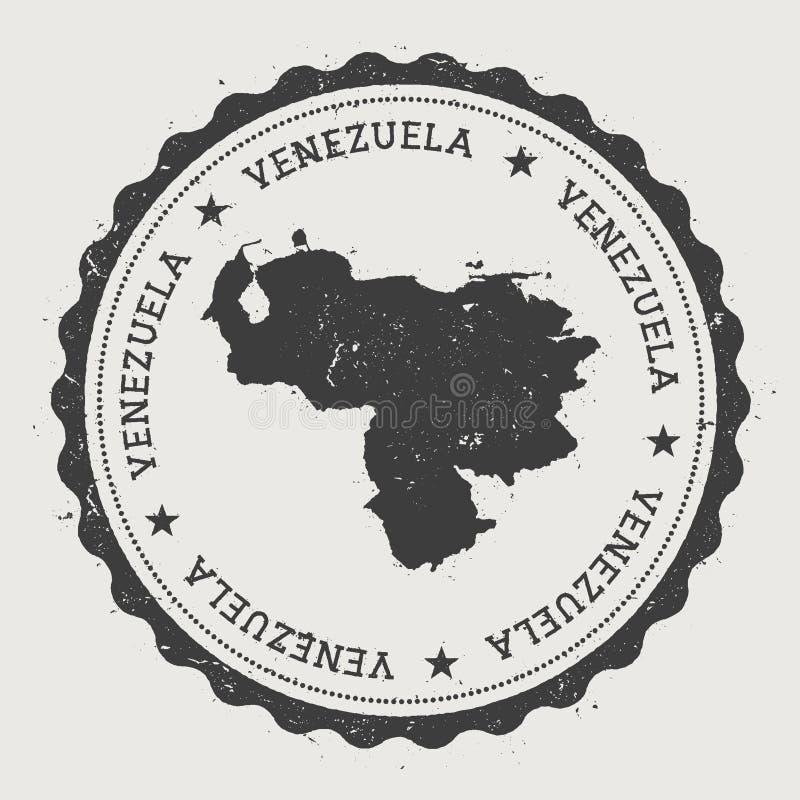 Wenezuela, Bolivarian modniś republika round ilustracja wektor