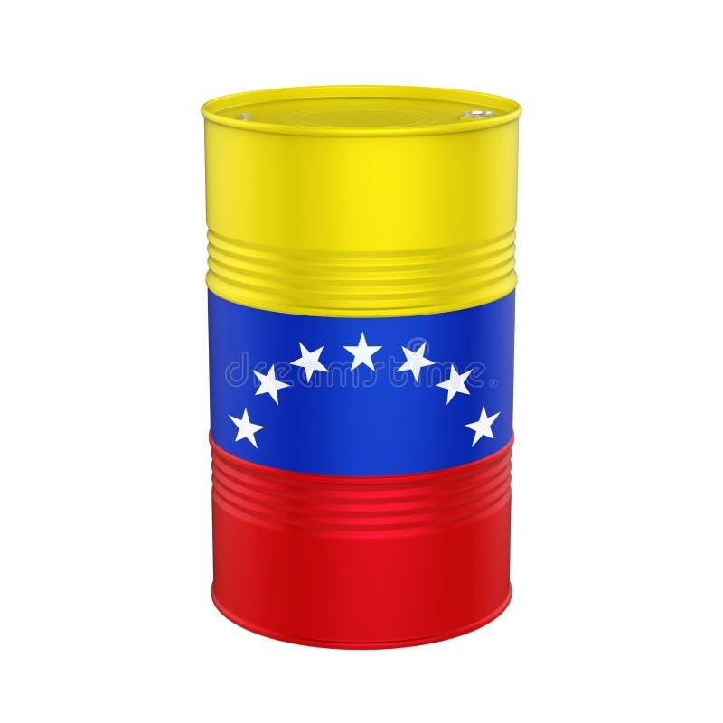 Wenezuela Chorągwiana Nafciana baryłka ilustracji