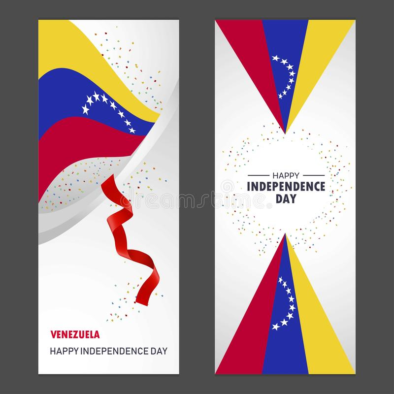 Wenezuela dnia niepodległości confetti świętowania Szczęśliwy tło royalty ilustracja