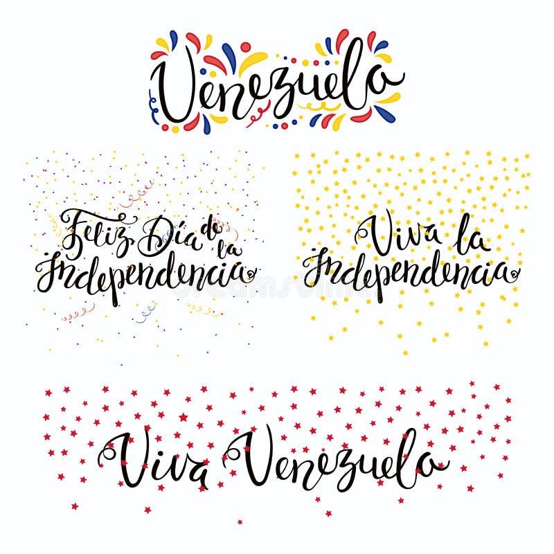 Wenezuela dnia niepodległości wycena ilustracja wektor