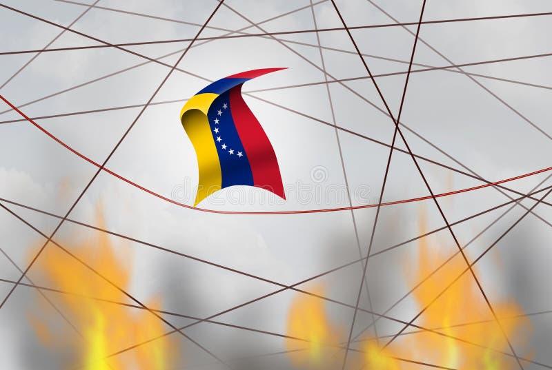 Wenezuela kryzys polityczny ilustracji