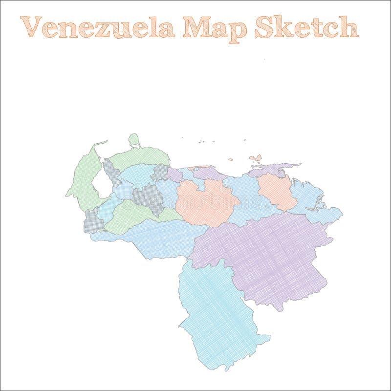 Wenezuela mapa royalty ilustracja